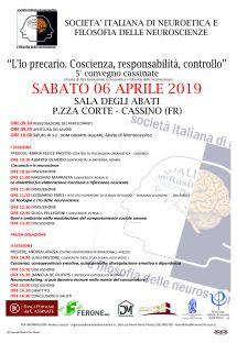 QUINTO CONVEGNO NEUROETICA 2019